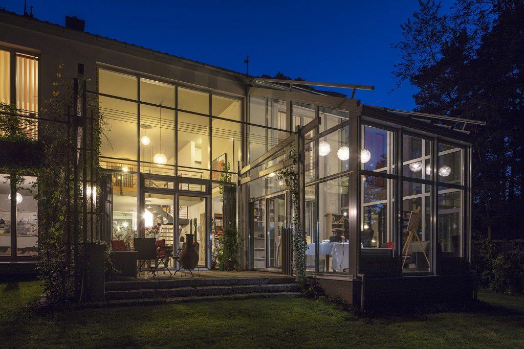 Un atelier d'artiste dans une veranda