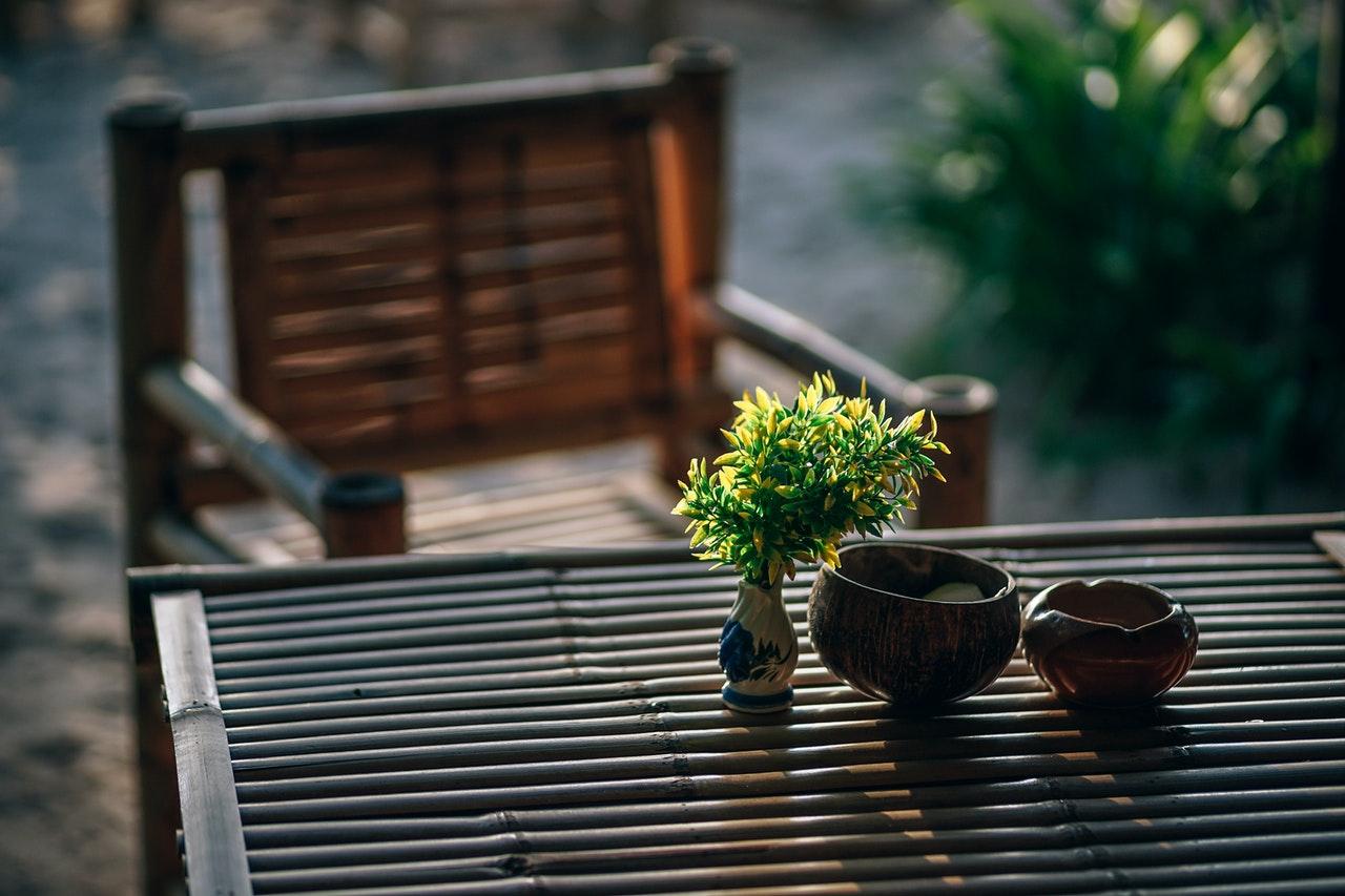 Meubles de jardin marron